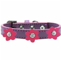 Premium Collar, Lavender with Pink Flowers - Size 12 - 1