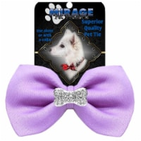 Crystal Bone Widget Pet Bowtie, Lavender - 1