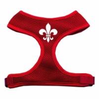 Fleur de Lis Design Soft Mesh Harnesses Red Extra Large - 1