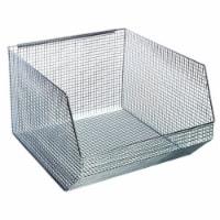 Chrome Wire Mesh Stack & Hang Bins - 1