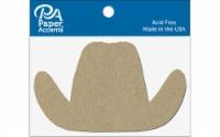 Chip Shape 8pc Cowboy Hat Natural - 1