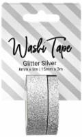 PA Essentials Glitter Washi Tape - Silver
