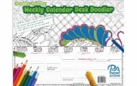 Creative Coloring Weekly DeskCalendar 8.5x11 60sht - 1