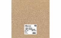 Cdstk Glitter 12x12 85lb 15pc Pk Sand - 1