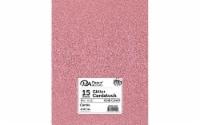 Cdstk Glitter 8.5x11 85lb 15pc Pk Canna