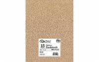 Cdstk Glitter 8.5x11 85lb 15pc Pk Sand - 1