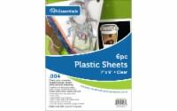 "Plastic Sheet 7x9 .004"" Clear 6pc"