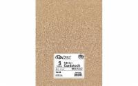 Cdstk Glitter 8.5x11 85lb Sand 5pc - 1