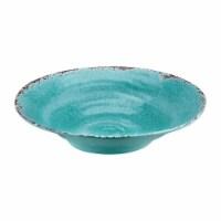 """Supreme Housewares Crackle 16"""" Melamine Large Bowl, Turquoise"""