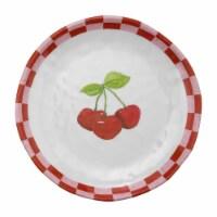 "Supreme Housewares 6"" Cherry Plate, Set of 4"