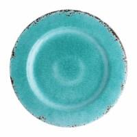 "Supreme Housewares Crackle, 11"" Melamine Plate, Turquoise - 1"