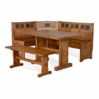 Sunny Designs Sedona Farmhouse Wood Breakfast Nook Set in Rustic Oak - 1