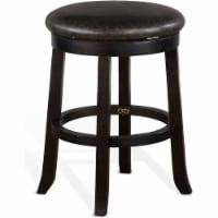 Sunny Designs 24  Mahogany Wood Backless Swivel Stool in Black Walnut - 1
