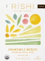 Rishi Tea Chamomile Medley Organic Botanical Blend Tea Sachets - 15 ct