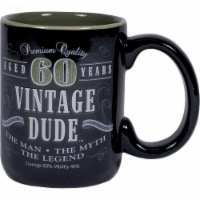 Creative Converting CF11016 14 oz Vintage Dude 60th Birthday Coffee Mug