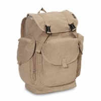 Everest Rugged Canvas Backpack - Khaki