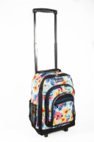 Everest Tropical Pattern Medium Wheeled Backpack