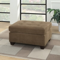 Poundex Furniture Fabric Cocktail Ottoman in Truffle Brown Color - 1