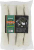Bravo Natural Retriever Rawhide Rolls 4 Count