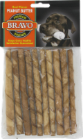 Bravo Premium Rawhide Peanut Butter Stick Dog Treats 10 Count