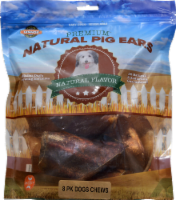 Lennox Natural Flavor Premium Natural Pig Ears 8 Count