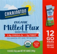 Carrington Farms  Organic Milled Flax Seed Paks Gluten Free 12 Count