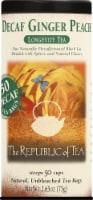 The Republic of Tea Ginger Peach Decaf Tea Bags - 50 ct