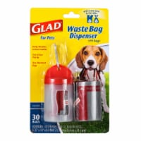 Glad Unscented Dog Waste Bags and Dispenser