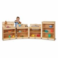 Jonti-Craft 2431JC Toddler Kitchen Set, 4 Piece - 28.5 x 80.5 x 15 in. - 1