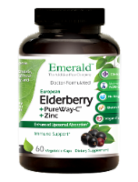 Emerald Elderberry + PureWay-C + Zinc Immune Support Vegetable Caps