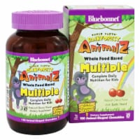 Bluebonnet Nutrition Super Earth Rainforest Animalz Whole Food Based Multiple Cherry,180Chews - 180