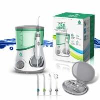 Pursonic  Counter Top Oral Irrigator Water Flosser w/ 3 Nozzles Plus a Bonus Tongue Scraper