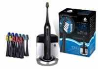 Pursonic  Rechargeable Toothbrush with  UV sanitizer and bonus 12 brush heads included, Black - 1