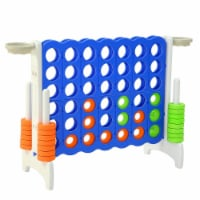 SDADI Giant Jumbo 4 in a Row Connect Game Indoor Outdoor Yard Game with Hoops - 1 Piece