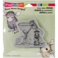 Stampendous House Mouse Cling Stamp -Martini Mice - 1