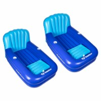 2) Swimline Solstice 15181SF Swimming Pool Inflatable Float Cooler Couch Lounges - 1 Unit