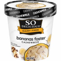 SO Delicious Dairy Free Bananas Foster Cashewmilk Frozen Dessert