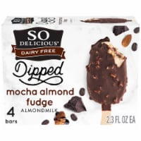 SO Delicious Almond Milk Mocha Fudge Bars 4 Count