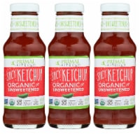 Primal Kitchen Spicy Ketchup Organic and Unsweetened 11.3 Ounce | 3-pack - 3 Bottles/ 11.3 Ounce