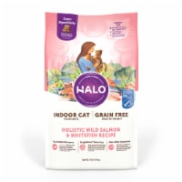 HALO Grain Free Wild Salmon & Whitefish Natural Dry Adult Indoor Cat Food