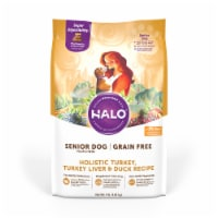 HALO Grain Free Turkey Liver and Duck Recipe Senior Dog Food