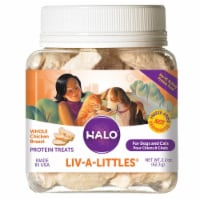 HALO Liv-A-Littles Freeze Dried Chicken Breast Natural Dog & Cat Treats