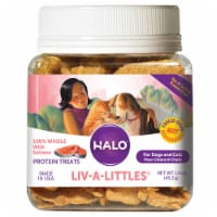 HALO Liv-A-Littles Grain Free Wild Salmon Freeze Dried Natural Dog & Cat Treats