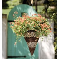 Gardman 12 In. Seagrass & Natural Grass Brown & Tan Hanging Plant Basket R375