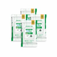 Simpleaf Cucumber Flushable Wipes 25 count, 4 packs - 4