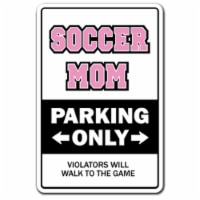 SignMission D-8-Z-Soccermom 8 x 12 in. Soccer Mom Decal - Coach Award Team Ball