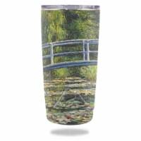 MightySkins OZTUM20-White Water Lilies Skin for Ozark Trail 20 oz Tumbler 2016 - White Water - 1