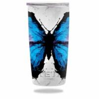 MightySkins YERAM20-Butterfly Splash Skin for Yeti 20 oz Tumbler - Butterfly Splash - 1