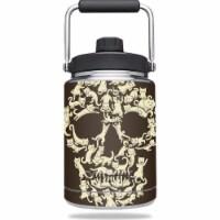 MightySkins YERAMJUG-Cat Skull Skin for Yeti 0.5 gal Jug - Cat Skull - 1