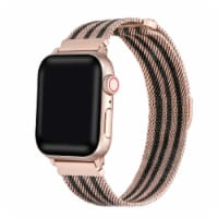 Infinity Bi-Color Rose Gold/Black Band for Apple Watch 1,2,3,4,5,6 & SE - Size 42mm/44mm - 42mm/44mm